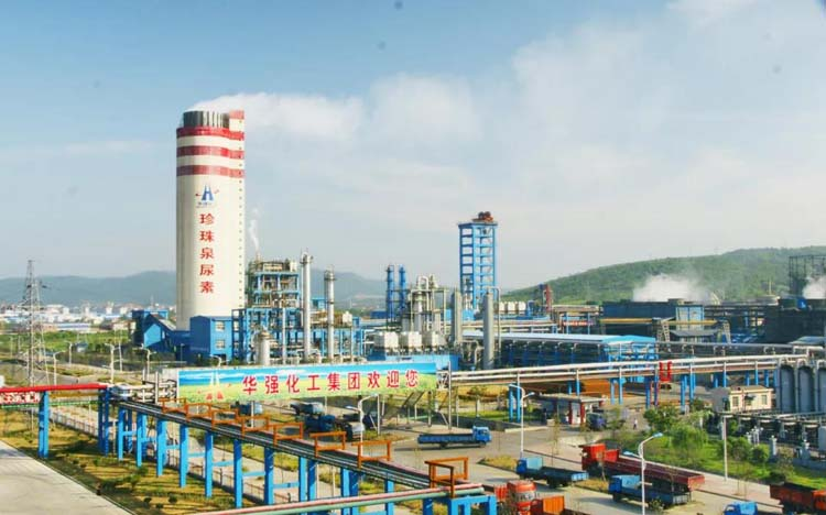 3 urea production lines with an annual output of 1 million tons
